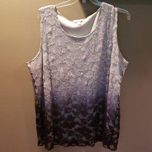 CJ Banks sleeveless shirt, 3x